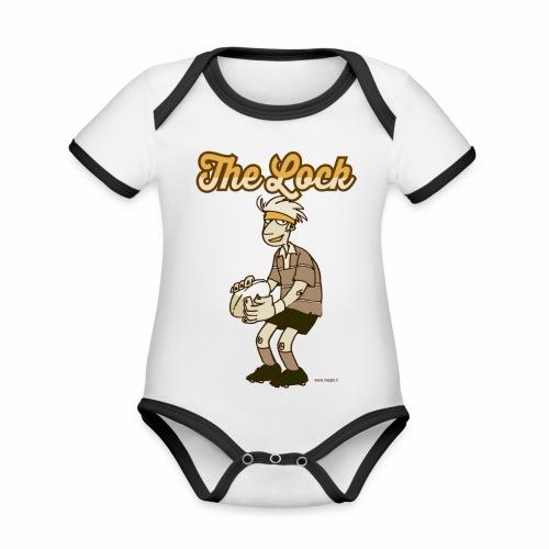 Lock_Marplo_mug - Body da neonato a manica corta, ecologico e in contrasto cromatico