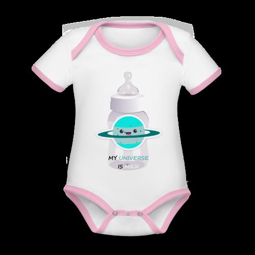 MILCH UNIVERSUM - Baby Bio-Kurzarm-Kontrastbody