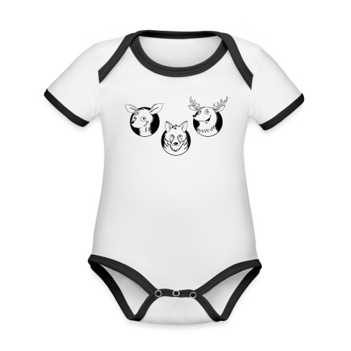 Weidmannsheil - Baby Bio-Kurzarm-Kontrastbody