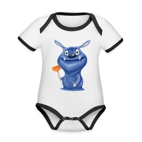 Pümpelmonster - Baby Bio-Kurzarm-Kontrastbody