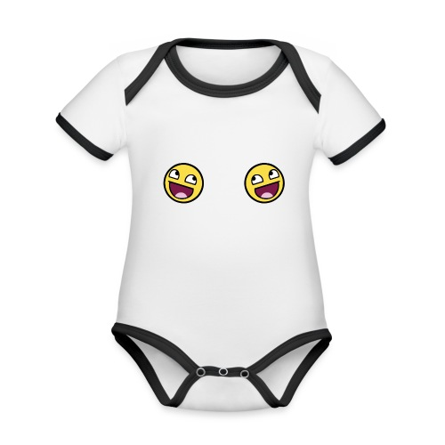 Design lolface knickers 300 fixed gif - Organic Baby Contrasting Bodysuit