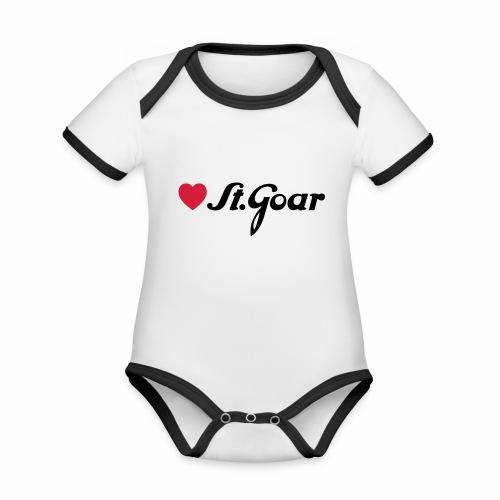 Herz für St. Goar - Baby Bio-Kurzarm-Kontrastbody
