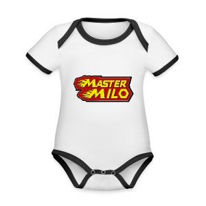 MasterMilo - Baby contrasterend bio-rompertje met korte mouwen