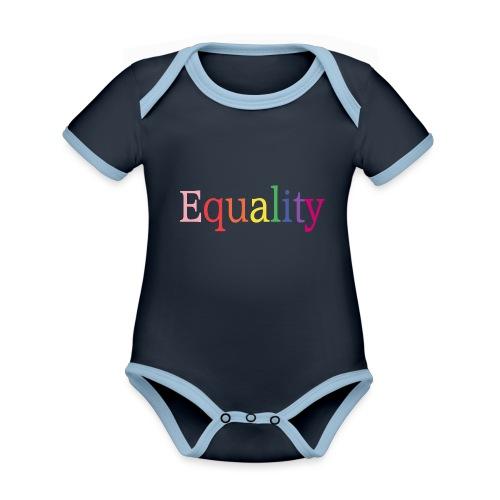 Equality | Regenbogen | LGBT | Proud - Baby Bio-Kurzarm-Kontrastbody