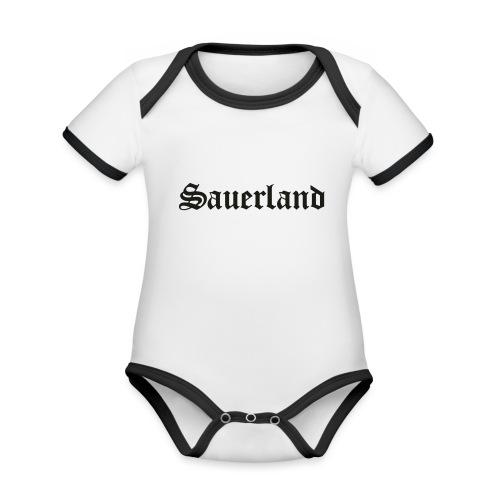 Sauerland - Baby Bio-Kurzarm-Kontrastbody