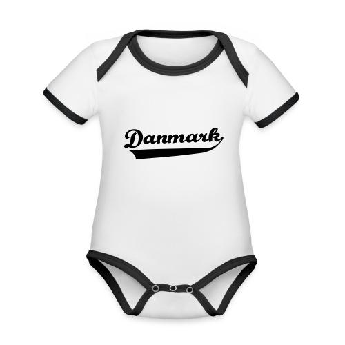 Danmark Swish - Kortærmet økologisk babybody i kontrastfarver