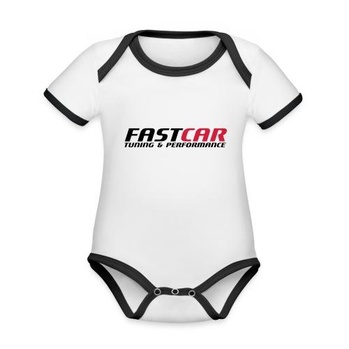 fastcar-eps - Ekologisk kontrastfärgad kortärmad babybody
