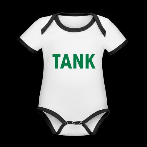 tank - Baby contrasterend bio-rompertje met korte mouwen