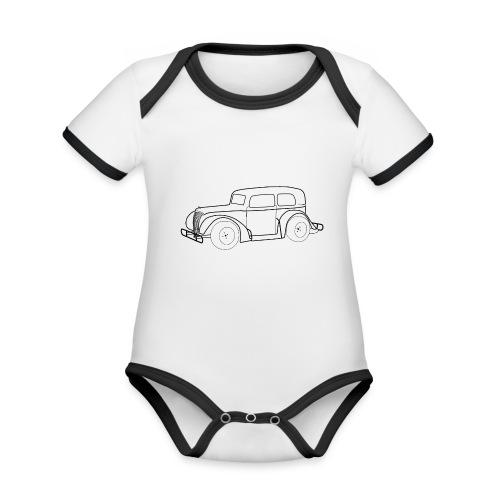 Racing Car schwarz - Baby Bio-Kurzarm-Kontrastbody