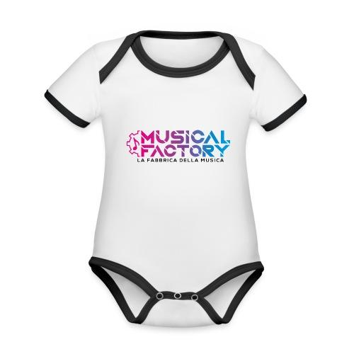 Musical Factory Sign - Body da neonato a manica corta, ecologico e in contrasto cromatico