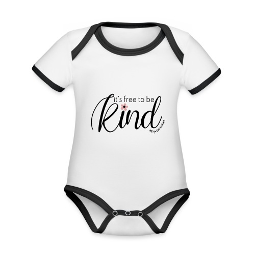 Amy's 'Free to be Kind' design (black txt) - Organic Baby Contrasting Bodysuit