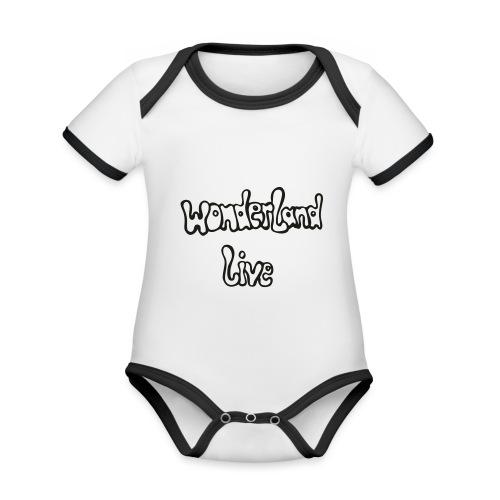 wonderland live - Baby Bio-Kurzarm-Kontrastbody
