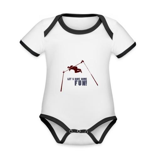Let s have some FUN - Baby contrasterend bio-rompertje met korte mouwen