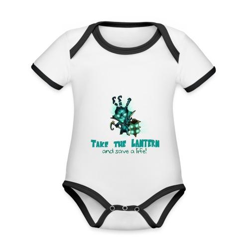 Chibi Thresh con scritta TAZZA - Body da neonato a manica corta, ecologico e in contrasto cromatico