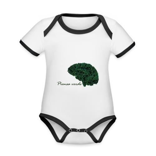 Piensa verde - Body contraste para bebé de tejido orgánico