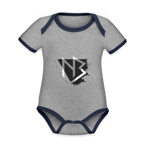 T-shirt NiKyBoX - Body da neonato a manica corta, ecologico e in contrasto cromatico