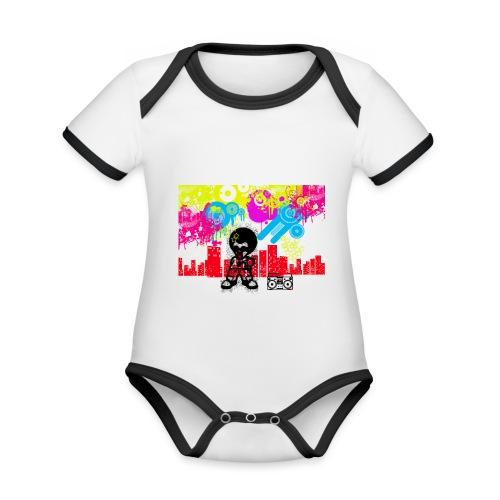 Cover cellulari personalizzate con foto Dancefloor - Body da neonato a manica corta, ecologico e in contrasto cromatico
