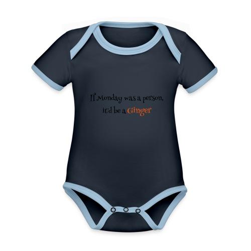 ginger1 - Vauvan kontrastivärinen, lyhythihainen luomu-body