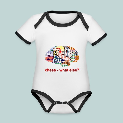 chess_what_else - Baby Bio-Kurzarm-Kontrastbody