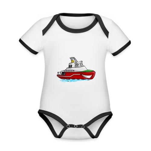 Boaty McBoatface - Organic Baby Contrasting Bodysuit