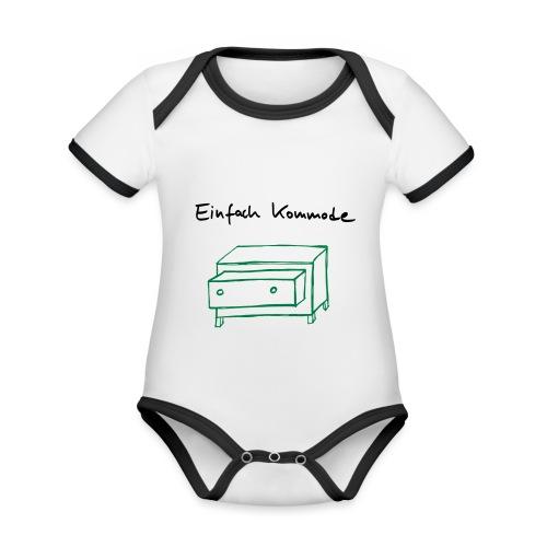 Einfach Kommode - Baby Bio-Kurzarm-Kontrastbody
