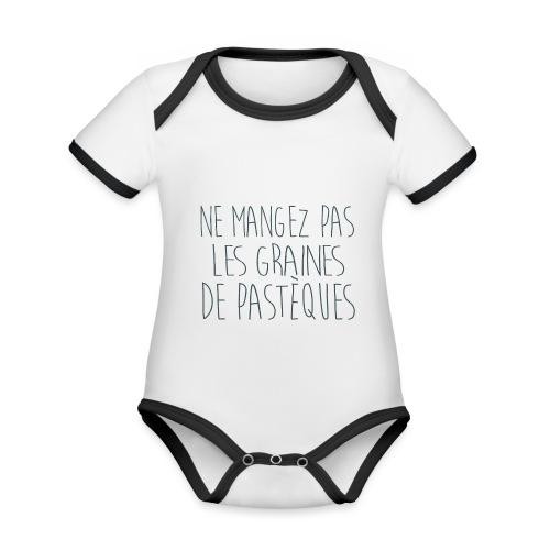 T-Shirt-Femme-Enceinte-personnalise - Body Bébé bio contrasté manches courtes