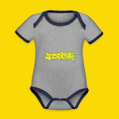 Strange Graffiti - Ekologiczne body niemowlęce z krótkim rękawem i kontrastowymi lamówkami