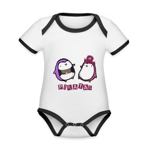 PINGUINOSPIRATAS - Body contraste para bebé de tejido orgánico