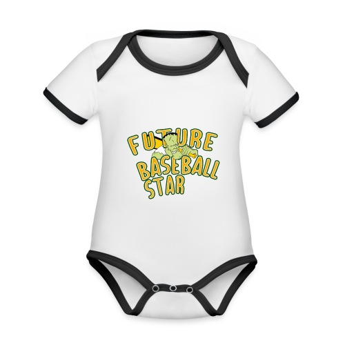 Future Baseball Star - Baby Bio-Kurzarm-Kontrastbody