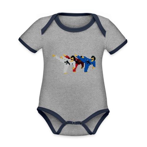 8 bit trip ninjas 2 - Organic Baby Contrasting Bodysuit