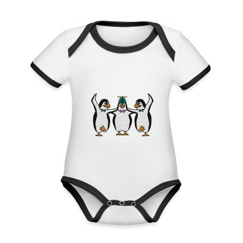 Penguin Trio - Organic Baby Contrasting Bodysuit