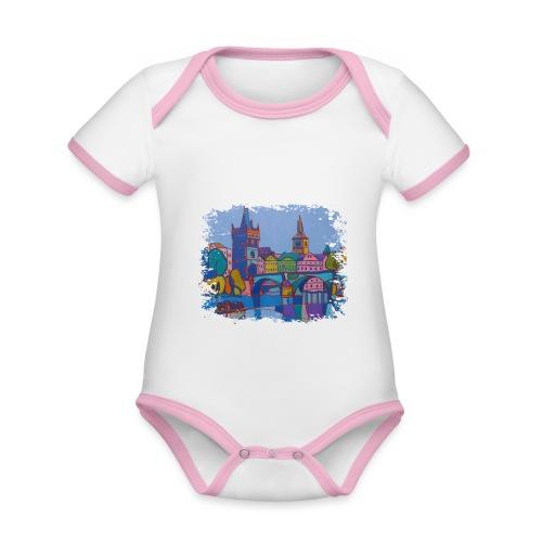Prag - Baby Bio-Kurzarm-Kontrastbody