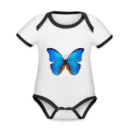 PAPILLON - MINIMALISTE - Body Bébé bio contrasté manches courtes