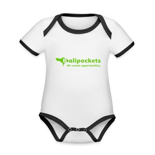 Balipockets Logo - Baby Bio-Kurzarm-Kontrastbody