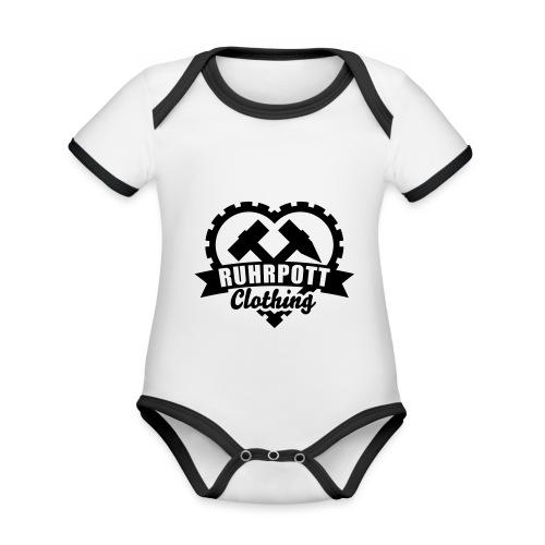 ruhrpott clothing 1c sw - Baby Bio-Kurzarm-Kontrastbody