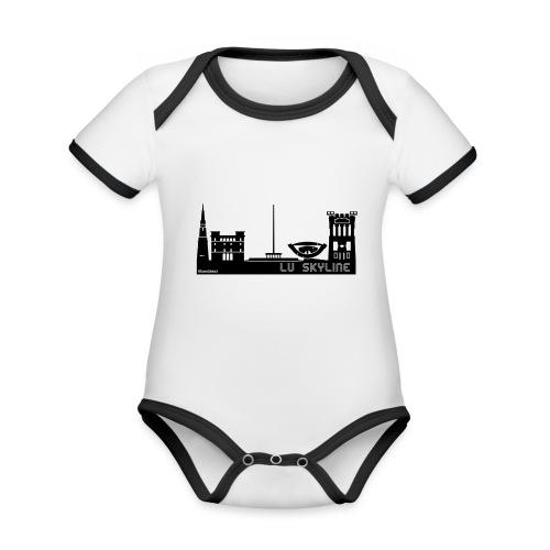 Lu skyline de Terni - Body da neonato a manica corta, ecologico e in contrasto cromatico