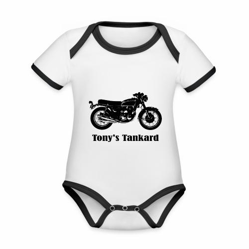 tonys tankard - Organic Baby Contrasting Bodysuit