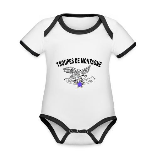 choucasTDM dos - Body Bébé bio contrasté manches courtes
