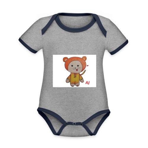 AJ - Baby Bio-Kurzarm-Kontrastbody