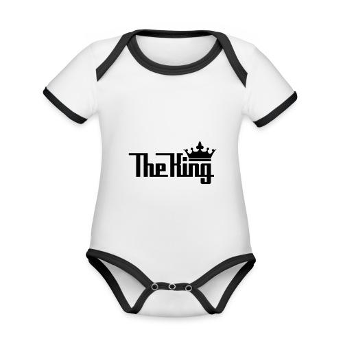 TheKing - Baby Bio-Kurzarm-Kontrastbody