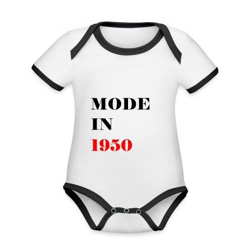MODE IN 150 - Organic Baby Contrasting Bodysuit
