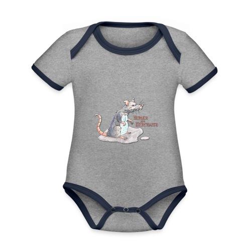 Rat - Baby Bio-Kurzarm-Kontrastbody