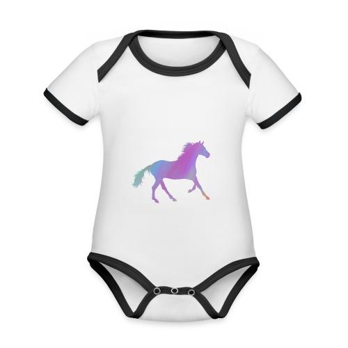 Horse - Organic Baby Contrasting Bodysuit