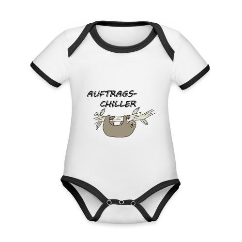 Faultier Auftragschiller - Baby Bio-Kurzarm-Kontrastbody