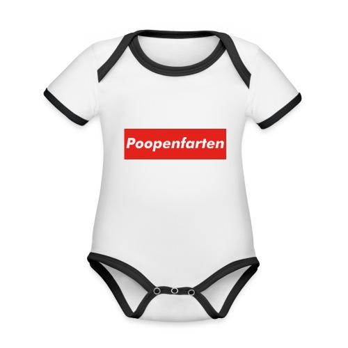 Poopenfarten Meme - Organic Baby Contrasting Bodysuit