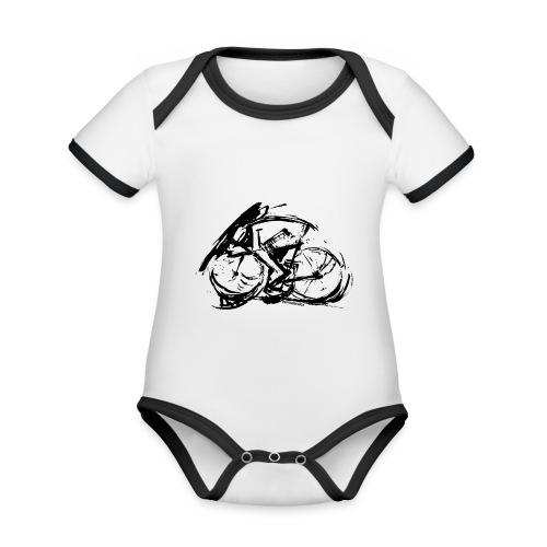 futuristischer radfahrer - Baby Bio-Kurzarm-Kontrastbody