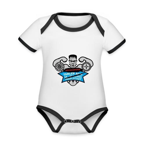 AGM 2021 Logo FCKCORONA 210406 - Baby Bio-Kurzarm-Kontrastbody