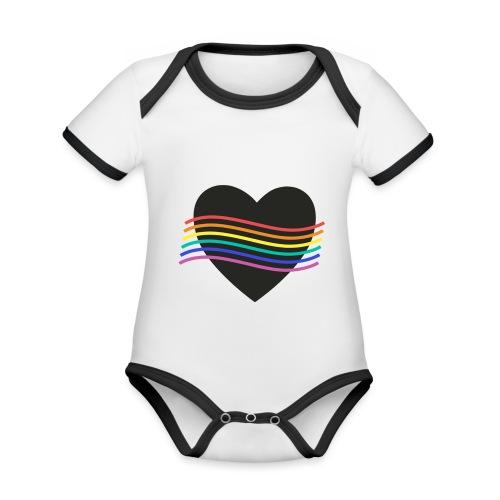PROUD HEART - Baby Bio-Kurzarm-Kontrastbody