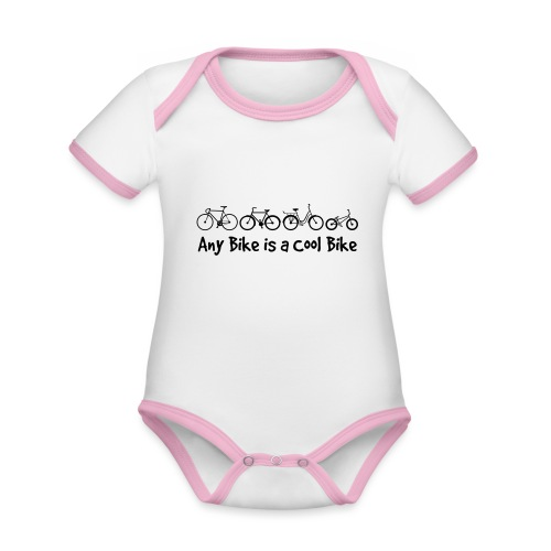 Any Bike is a Cool Bike Kids - Organic Baby Contrasting Bodysuit