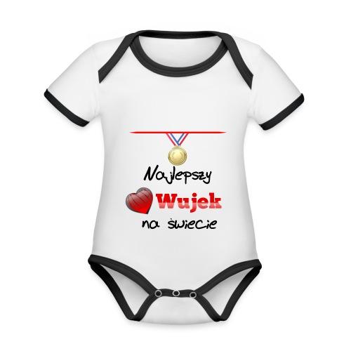 nadruk_rodzinne_03 - Ekologiczne body niemowlęce z krótkim rękawem i kontrastowymi lamówkami